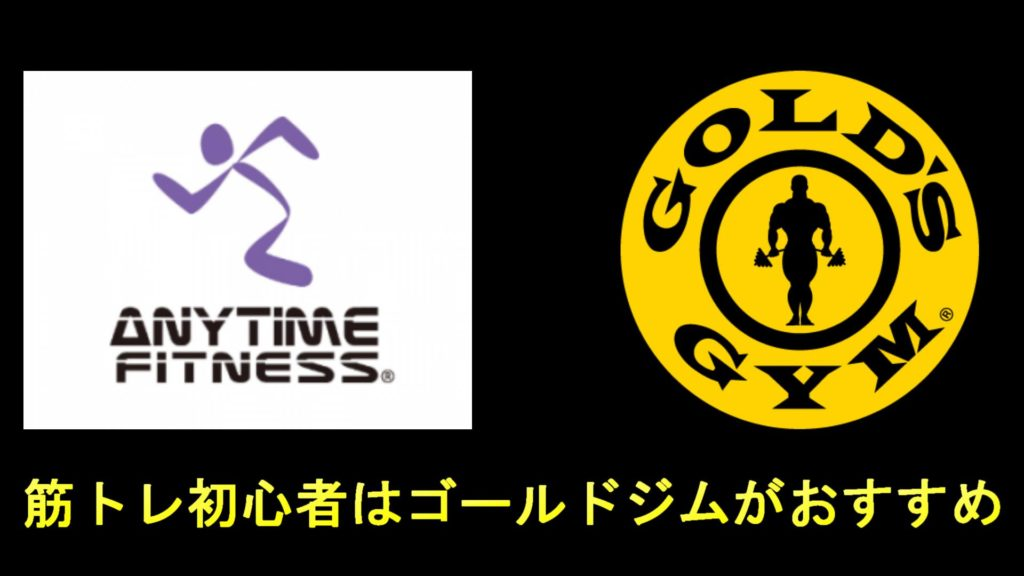 エニタイムフィットネスとゴールドジムのロゴの画像
